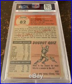 1953 Topps MICKEY MANTLE #82 PSA Graded 4.5 VG-EX+ PSA Original Owners