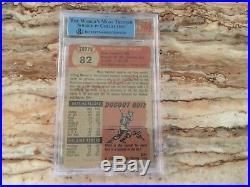 1953 Topps Mickey Mantle #82 Baseball Card bgv authentic