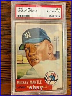 1953 Topps Mickey Mantle 82 PSA