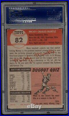 1953 Topps Mickey Mantle #82 PSA 4.5 Incredible Color = Strong Eye Appeal