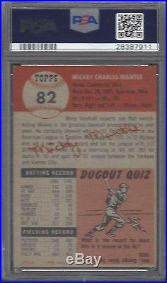 1953 Topps Mickey Mantle #82 PSA 5