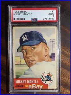 1953 Topps Mickey Mantle #82 Psa 2 Fresh Grade