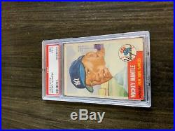 1953 Topps Mickey Mantle Card #82 PSA 3