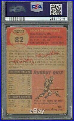 1953 Topps Mickey Mantle PSA 2