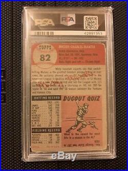 1953 Topps Mickey Mantle PSA 2 New York Yankees HOF