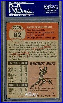1953 Topps Mickey Mantle PSA 3 VG Yankees HOF