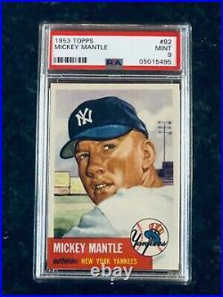 1953 Topps Mickey Mantle PSA 9. Stunning artifact