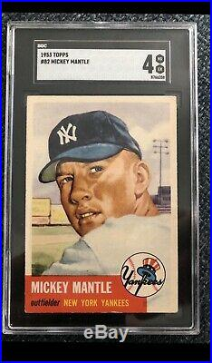 1953 Topps Mickey Mantle SGC 4 Centered