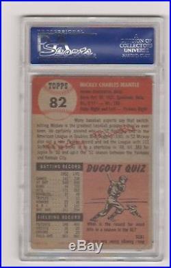 1953 Topps Mickey Mantle SHORT PRINT #82 PSA 3 VG