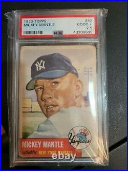 1953 Topps Mickey Mantle psa 2.5 Short Print