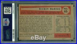 1954 Bowman Mickey Mantle #65 HOF PSA 4 Centered UNDERGRADED