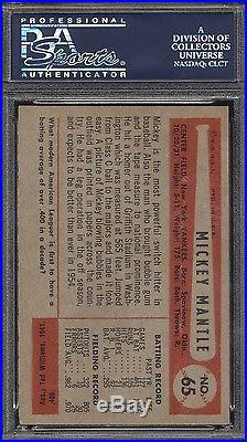 1954 Bowman Mickey Mantle #65 PSA 5