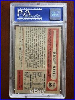 1954 Bowman Mickey Mantle #65 PSA 7 NICELY CENTERED