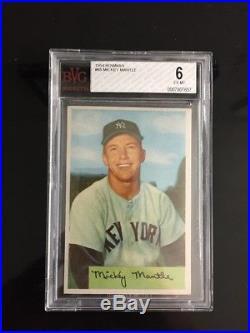 1954 Bowman Mickey Mantle BGS BVG 6 EX/MT! (Similar to PSA 6) New York Yankees