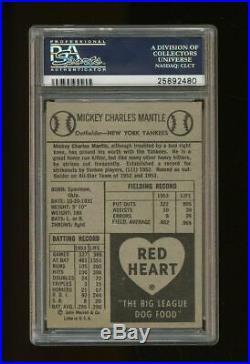 1954 Red Heart Mickey Mantle HOF PSA 4.5