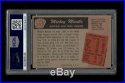 1955 Bowman BB Card #202 Mickey Mantle New York Yankees PSA VG-EX 4