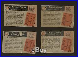 1955 Bowman Baseball Complete Set (320) with Aaron Mays Kaline Mantle Banks Berra