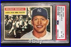 1956 Topps #135 Mickey Mantle (HOF) New York Yankees PSA 6 EX-MT Sharp Card