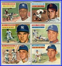 1956 Topps Baseball Complete Set Aaron Williams Mays Clemente Koufax Mantle PSA