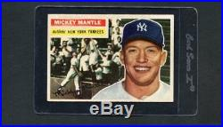 1956 Topps Baseball HOF-#135 Mickey Mantle, NY Yankees HOF (GB) ex+ centered