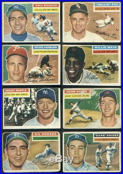1956 Topps Complete Baseball Set Koufax Clemente Mantle Williams Aaron Mays PRVE