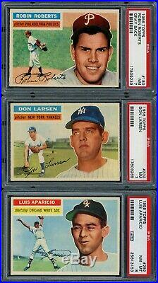 1956 Topps HOF Lot Mantle, Mays, Aaron, Clemente, Williams & All PSA 7 or 8