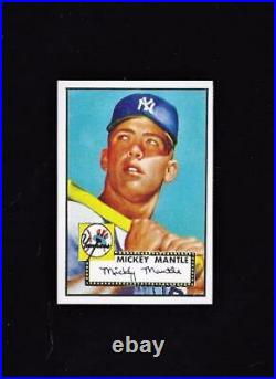 1956 Topps MICKEY MANTLE #135 PSA 8 NM-MT Sharp! + 1952 Topps Mickey Mantle RE