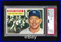 1956 Topps MICKEY MANTLE #135 PSA 9 MINT Beauty Centered L/R! + 1952 Topps RP