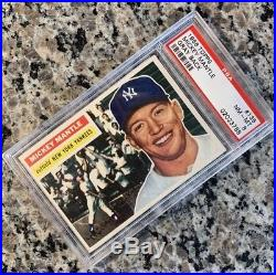 1956 Topps MICKEY MANTLE PSA 8 #135 Triple Crown Amazing Color High End-PMJS