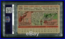 1956 Topps MICKEY MANTLE Yankees HOF #135 PSA 6