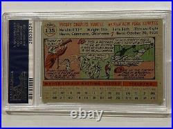 1956 Topps Mickey Mantle #135 (Gray Back) PSA 2 (GOOD) HOF