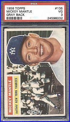 1956 Topps Mickey Mantle #135 PSA 3 HIGH END