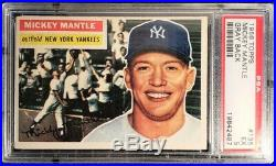 1956 Topps Mickey Mantle #135 PSA 5 EX Gray Back