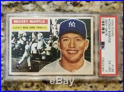 1956 Topps Mickey Mantle GB #135 PSA 6 EX-MT Centered High End Yankees