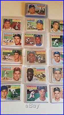1956 topps all star baseball card(21) WithMANTLE, lot# 1