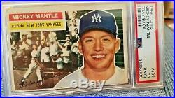 1956 topps baseball cards lot(56). Including stars and graded mantle, #12