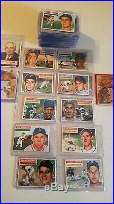 1956 topps lot(126) all white backs, includes 7 HOF stars/ and a psa 3 WB MANTLE
