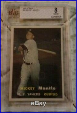 1957 Topps # 95 Mickey Mantle Bvg 8 Nm-mt High End Awesome Card