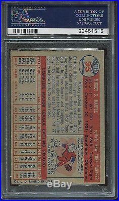 1957 Topps #95 Mickey Mantle psa 7 Nm HOF Yankees