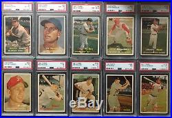 1957 Topps HIGH GRADE COMPLETE SET EX/MT+ withNM MANTLE PSA 7