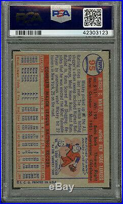 1957 Topps Mickey Mantle Psa 6- Nice Corners, Centered