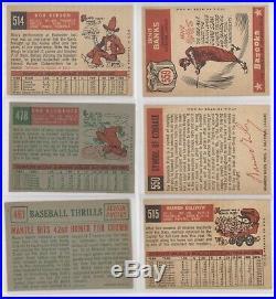 1959 Topps Baseball Complete Set 1-572 Aaron Clemente Gibson Mickey Mantle etc