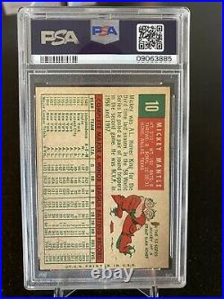 1959 Topps Mickey Mantle #10 PSA 8 NM-MT