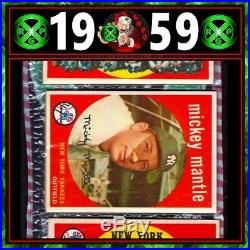 1959 Topps Mickey Mantle Unopened cello Christmas Rack Pack Yankees GRADED AUTH