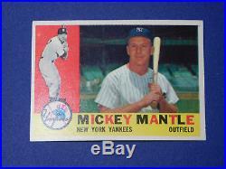 1960 Topps BaseBall Card # 350 Mickey Mantle ExMt+