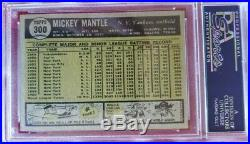 1961 Topps 300 Mickey Mantle Psa 5 Ex Nice Card