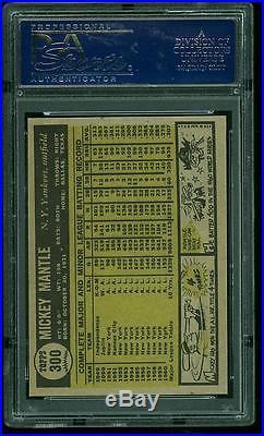 1961 Topps #300 Mickey Mantle Psa 9 Mint