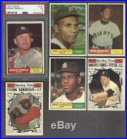 1961 Topps Baseball set/lot High end lot PSA 8 Mantle plus others