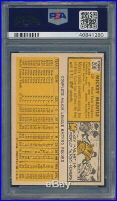 1963 Topps Mickey Mantle #200 HOF PSA 5 Centered