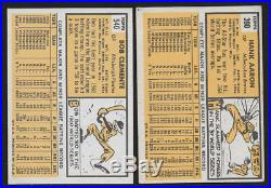 1963 Topps Near Set Rose PSA 6, Mantle, EX to NM 518/576